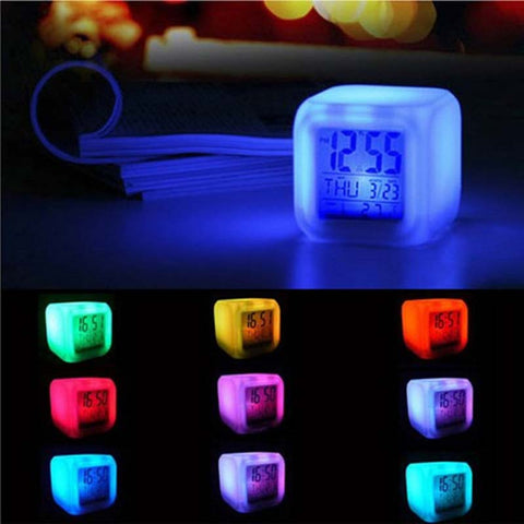 Home Decor DIY Colorful LED Digital Alarm Clock /Electronic Display
