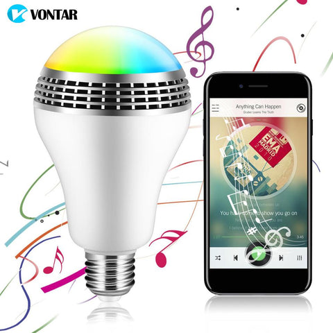 Bluetooth Speaker LED  Lamp - Music Audio  + Remote Control for Home