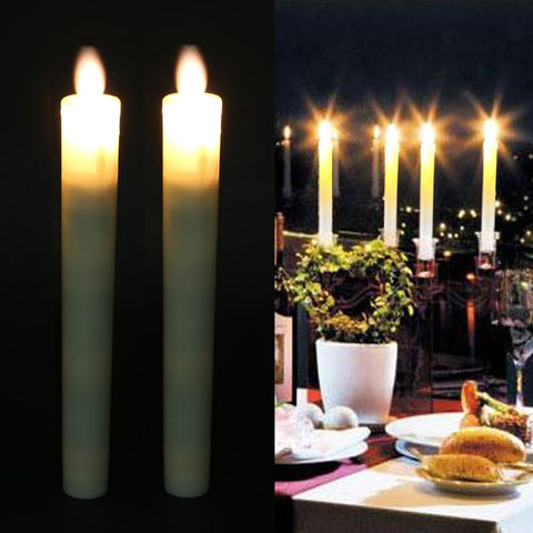 2pcs Battery Powered LED Flameless Candle Lights