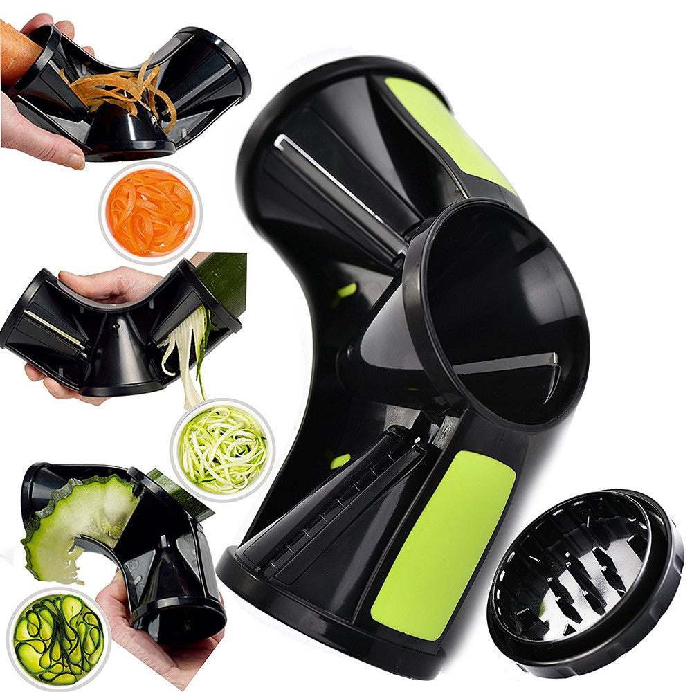 3In1 Spiral Vegetable Slicer