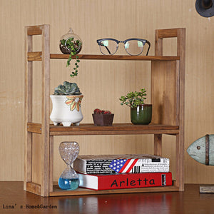 3 Tier Small Solid Wood Shelf for Books