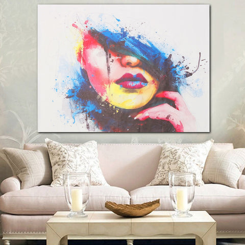 Modern Abstract Canvas  Painting Unframed