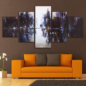 5Pcs Abstract Modern Canvas Oil Painting  Unframed