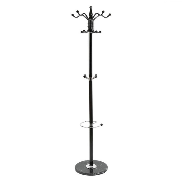 Tree Style Metal Coat Rack with Marble Base