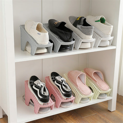 Space Saving Shoe Organizer Rack