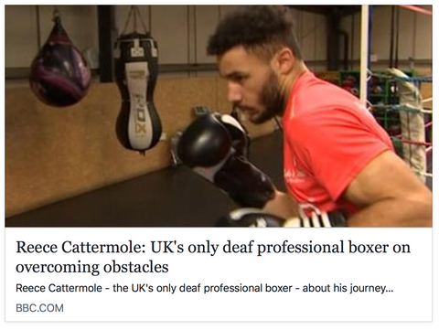 Reece Catermole: UK's only deaf professional boxer on overcoming obstacles