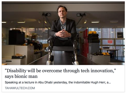 Disability will be overcome through tech innovation says bionic man