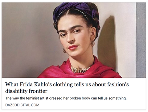 Frida kahlo disability fashion mexico