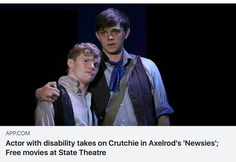 actor disability tackles crutchie newsies nj free movies