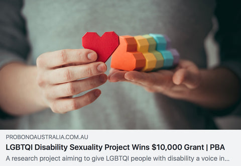 lgbtqi disability sexuality project wins 10000 grant
