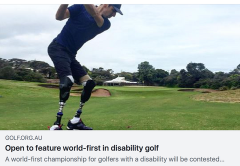 open to feature world first in disability golf
