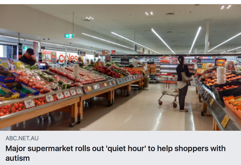 Major supermarket rolls out quiet hour to help shoppers with autism