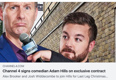 channel 4 signs comedian adam hills on exclusive contract