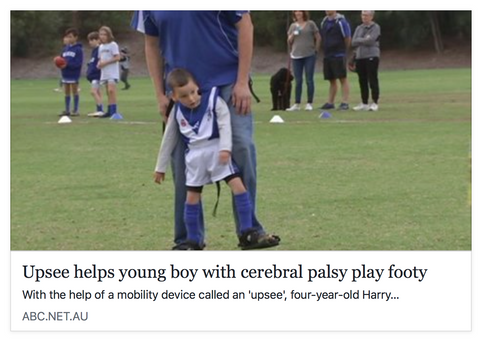 upsee footy boy cerebral palsy