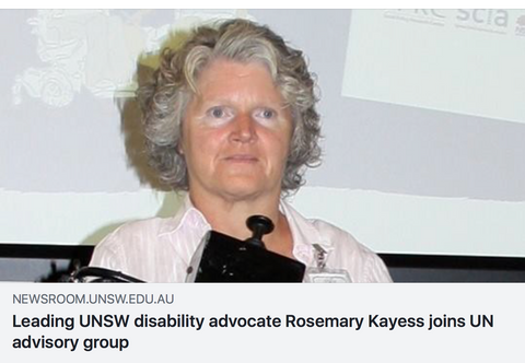 leading unsw disability advocate rosemary kayess joins un advisory group