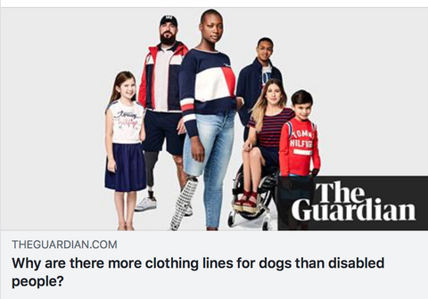 Why are there more clothing lines for dogs than disabled people