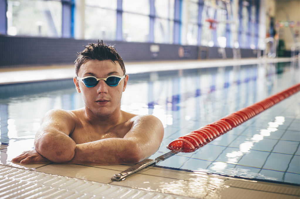 Swimmer with disability