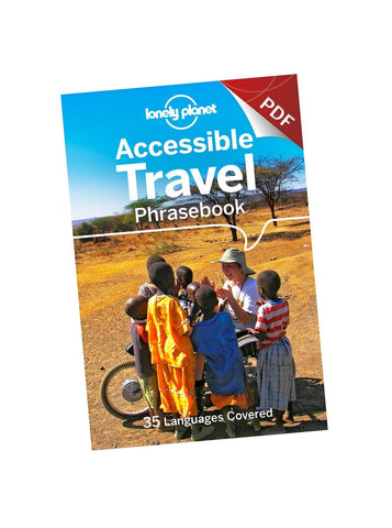 Accessible travel phrasebook