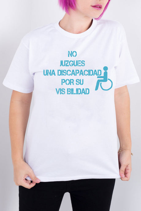 Don't Judge A Disability By Its Visibility White Tee (Spanish)