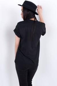 Quiet People Black Tee