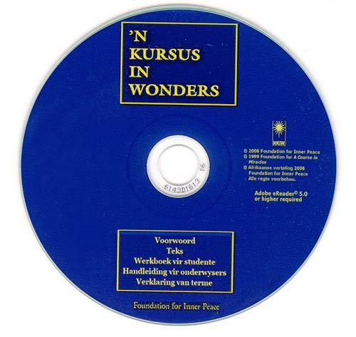 'N KURSUS IN WONDERS - Afrikaans (Electronic Book)