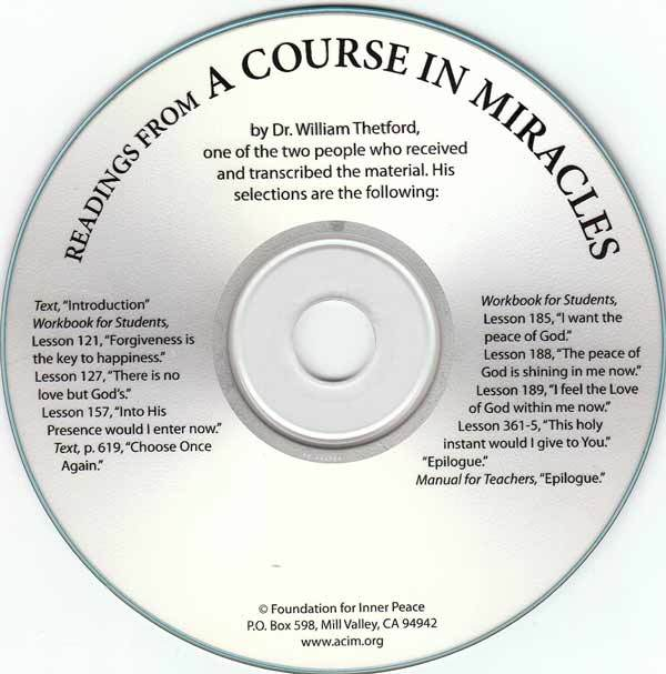 Readings from A Course in Miracles (CD)