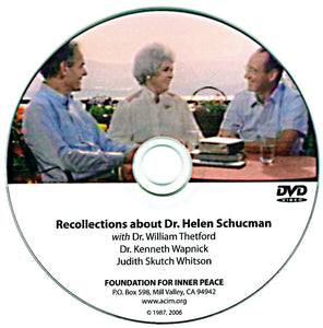 Recollections about Dr. Helen Schucman - DVD