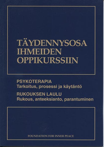 Finnish Supplements (Psykoterapia and Rukouksen Laulu)