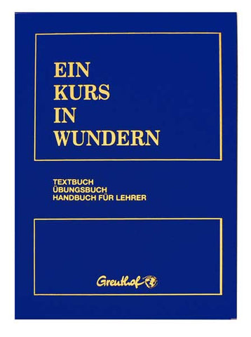 EIN KURS IN WUNDERN - German Hardcover Edition