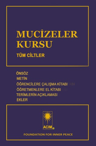 MUCİZELER KURSU - Turkish Edition **AVAILABLE AS E-BOOK ONLY**