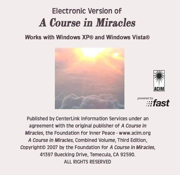 ACIM Electronic Version - TEMPORARILY UNAVAILABLE  (see below)