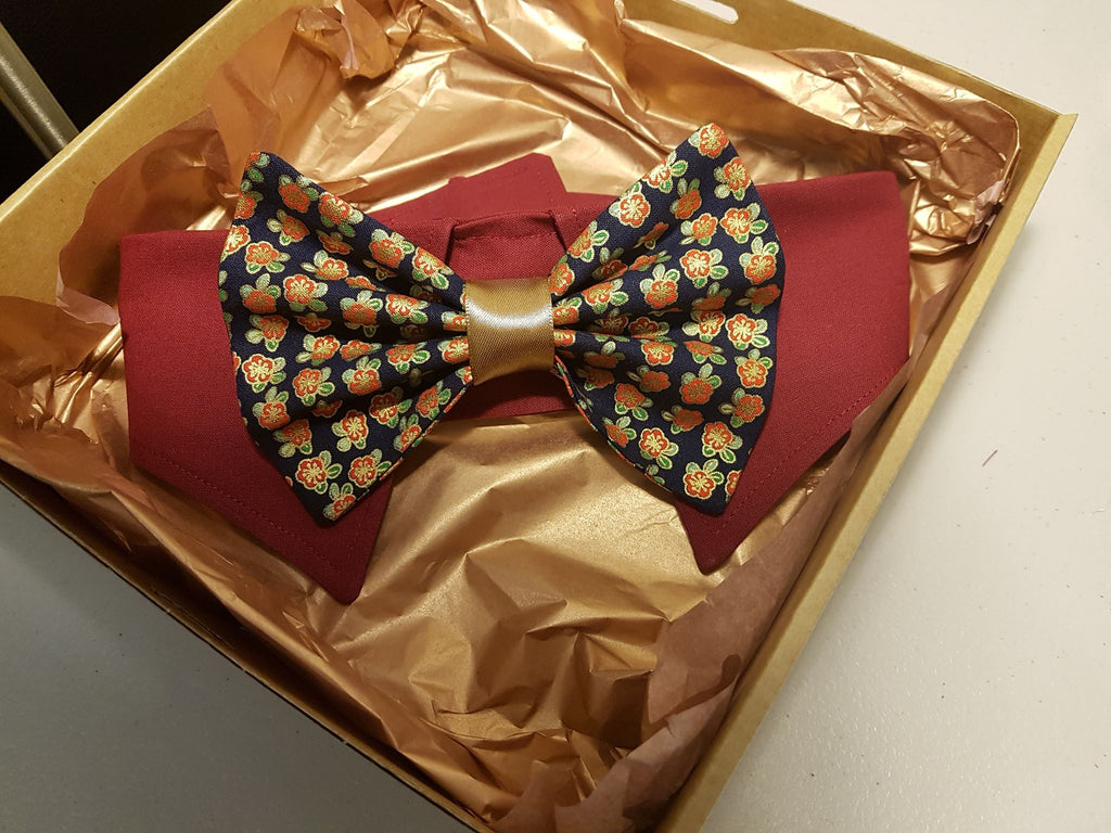 Dog Shirt Collar and Bow Tie