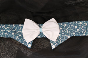 Felicia - Dog Shirt Collar and Bow Tie