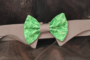 Jade - Dog Shirt Collar and Bow Tie