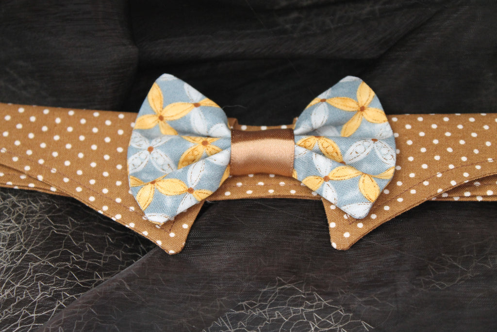 Laurel - Dog Shirt Collar and Bow Tie