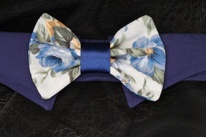 Blue Anemone - Dog Shirt Collar and Bow Tie