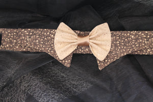 Mocca Love - Dog Shirt Collar and Bow Tie