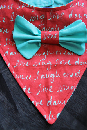 Love Laugh Live - Dog Bandana