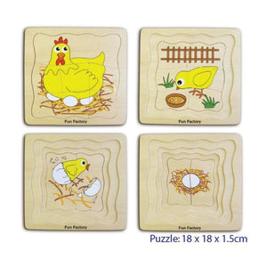 4 Layer Egg Chicken Puzzle-Fun Factory