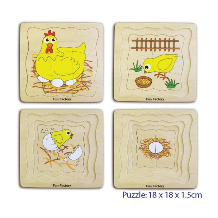 4 Layer Egg Chicken Puzzle