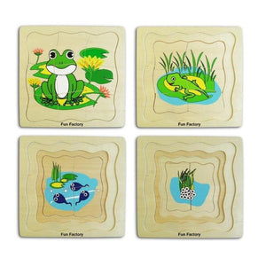 4 Layer Frog Puzzle-La Belle Toys-My Happy Helpers
