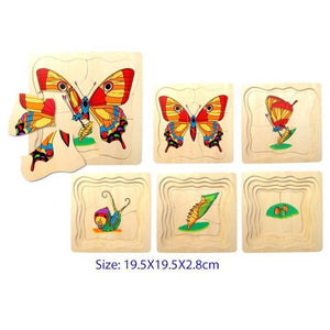 5 Layer Butterfly Puzzle-Fun Factory