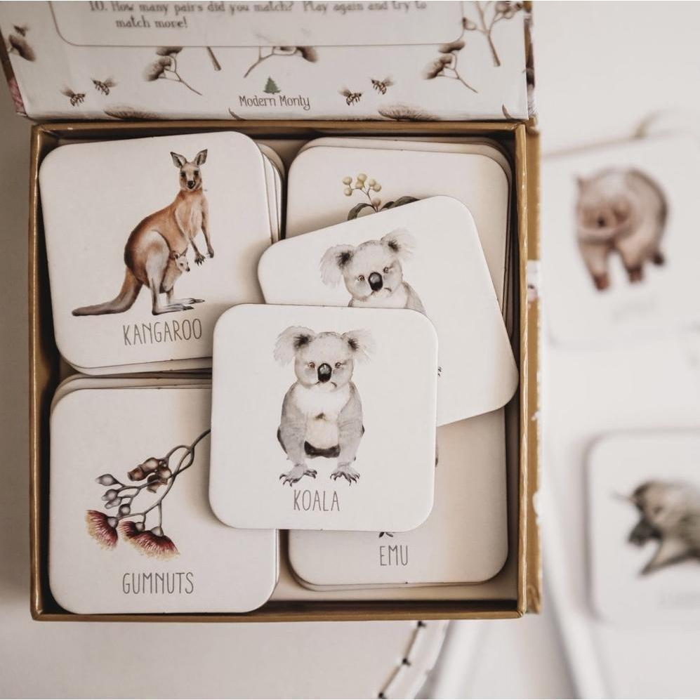 Australia Memory Card Game - Modern Monty-[vendor]-My Happy Helpers