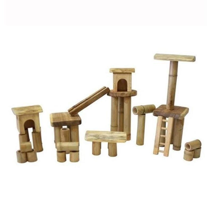 Bamboo Build & Construct Set with Houses