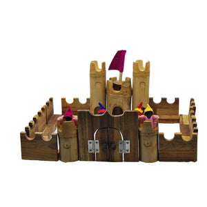 Bamboo Castle Set with Knights