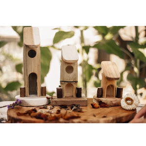 Bamboo Fairy House (Set of 3)-[product_vendor-My Happy Helpers