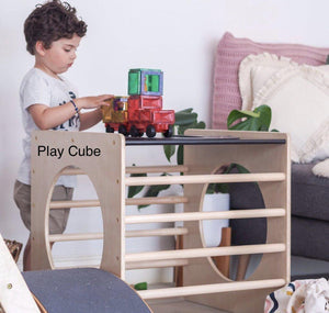 Climbing Frame - Slide - Cube Package / Varnished-[product_vendor-My Happy Helpers