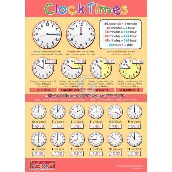 Clock Times and Money Chart-Kidstart-My Happy Helpers