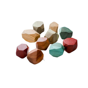 Colored Wooden Gems