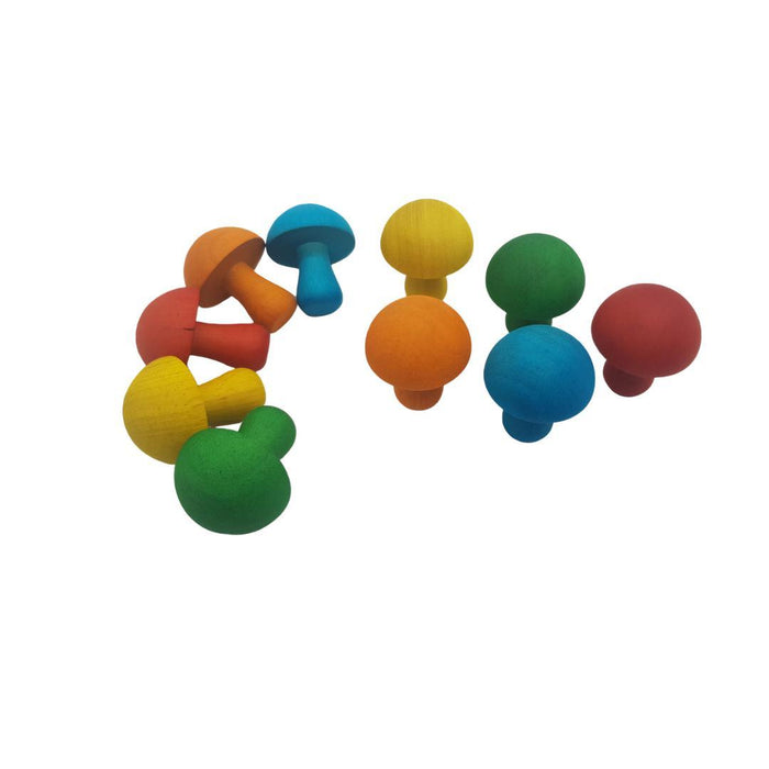 Coloured Mushrooms (Set of 10)